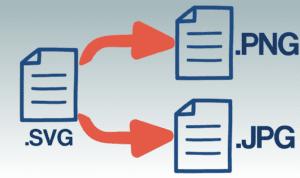 SVG Datei öffnen und in JPG oder PNG umwandeln