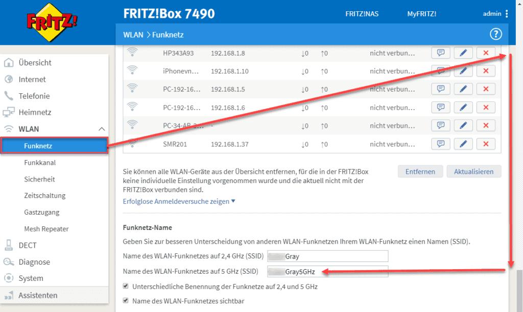 FirtzBox Funknetz einstellungen