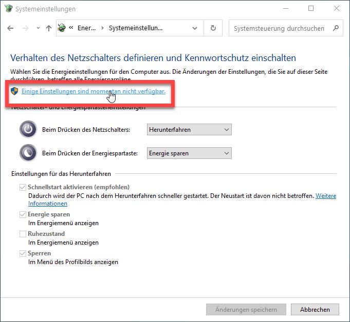 Windows 10 Administrative Einstellungen aktivieren