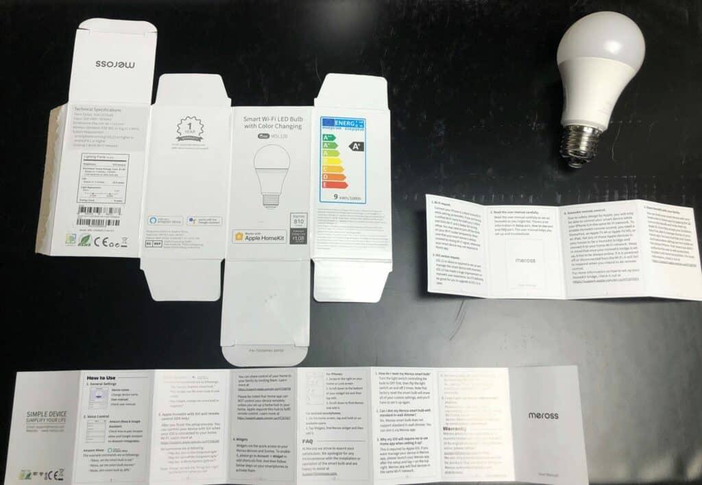 Meross MSL120 smarte HomeKit Birne Lieferumfang