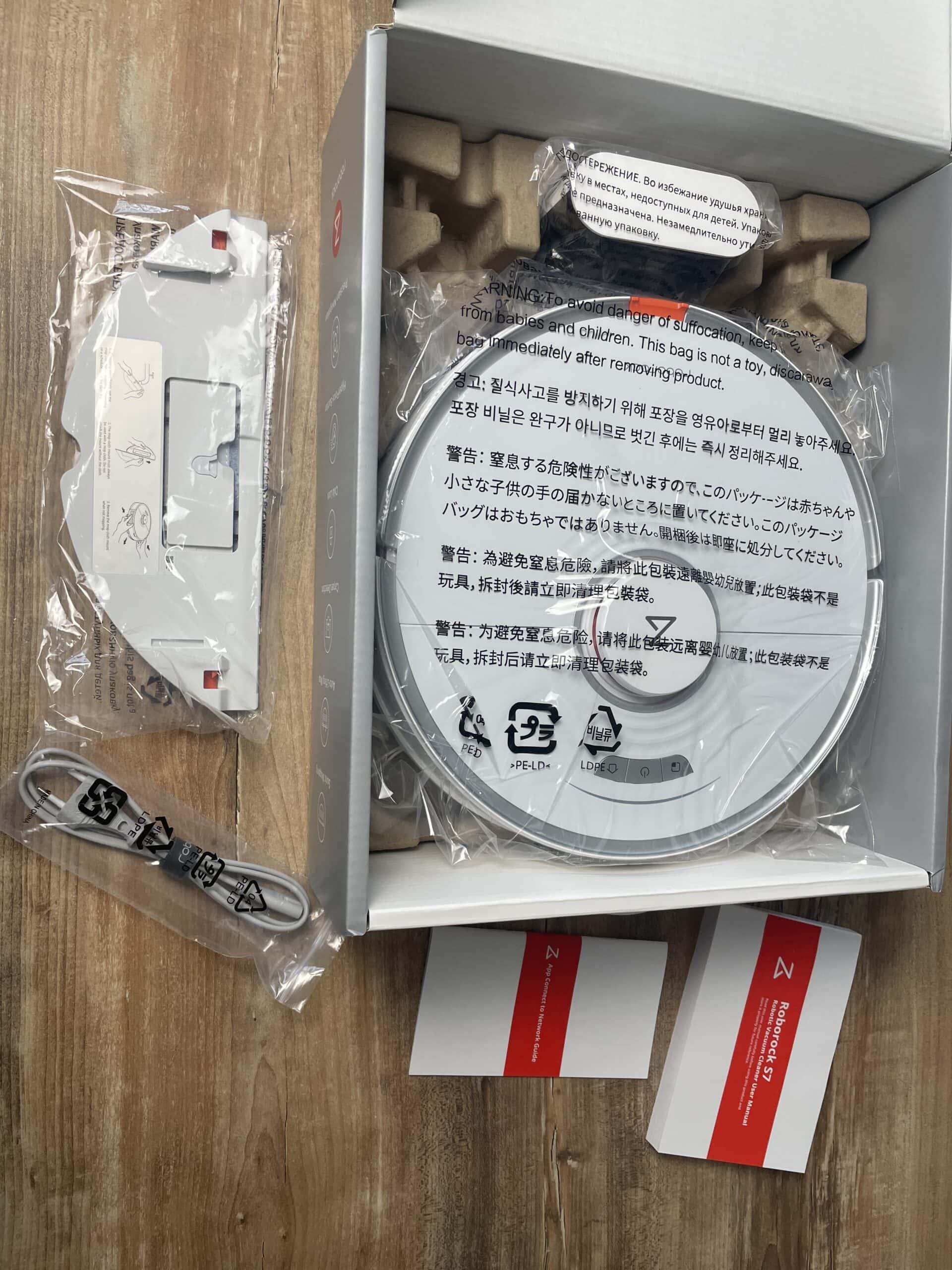 Ausgepackter Karton - Roborock S7 Test